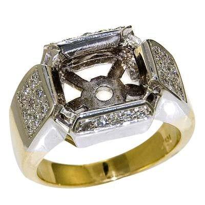 18KTT ROUND DIAMOND SEMI-MOUNT 12.0 GRAMS   28 - ROUND