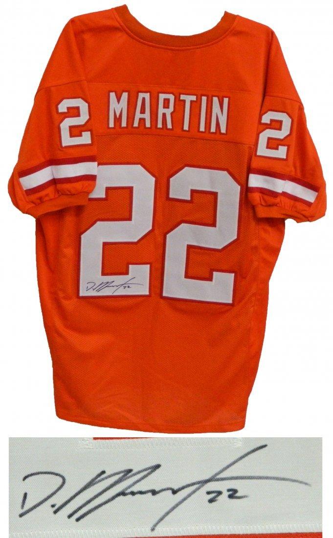 Doug Martin signed orange throwback custom jersey.  Ite