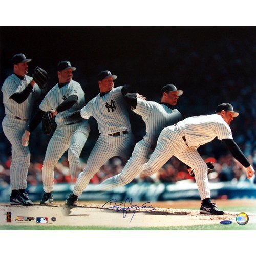 Roger Clemens Yankees Multi-Exposure 16x20 Photo (TS Au