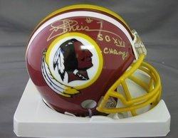 Joe Theismann Washington Redskins NFL Hand Signed Mini
