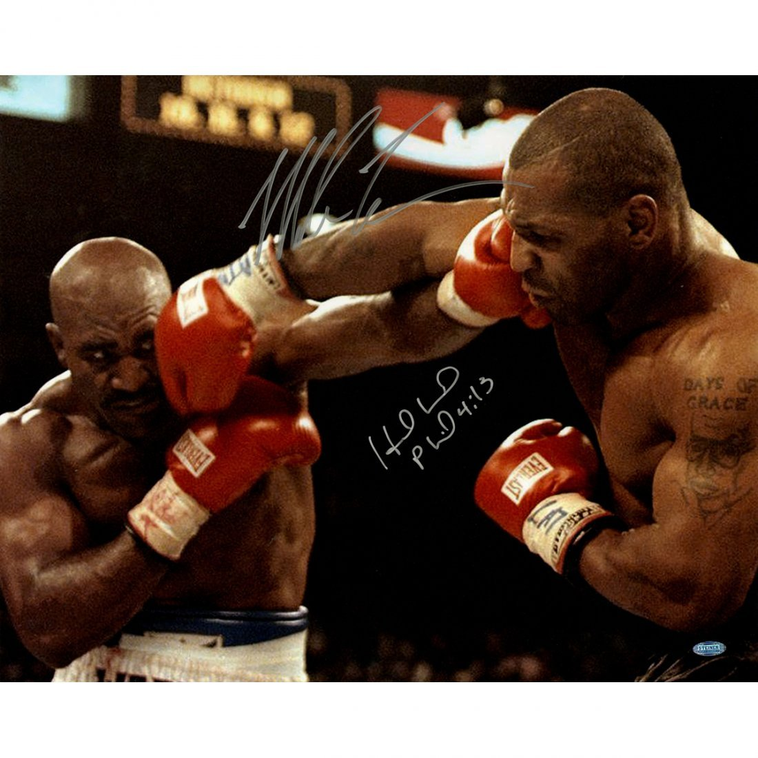 Mike Tyson & Evander Holyfield Dual Signed Connecting 1