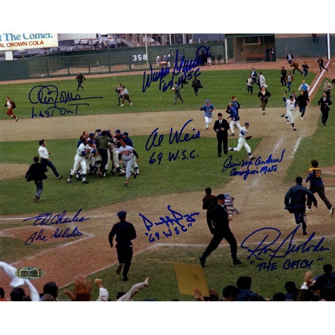 1969 New York Mets Multi Signed and Inscribed Celebrati