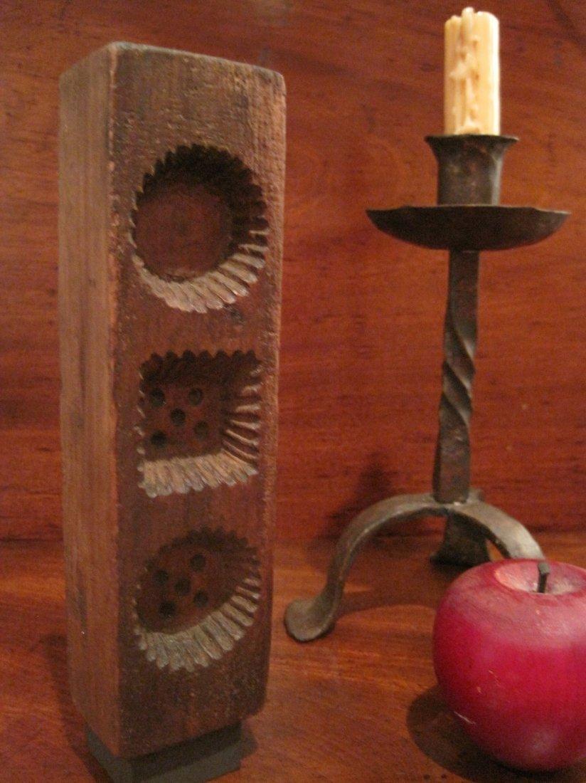 Shaker Beeswax Sewing Thread Mold & Sock Darners 1800s - 3