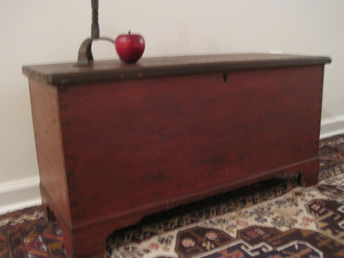Chippendale Painted Miniature Dovetailed Blanket Chest