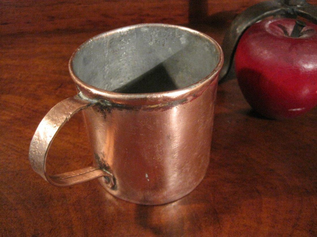 Colonial Copper Pint Tavern Tankard Mug Cup 1700s - 10