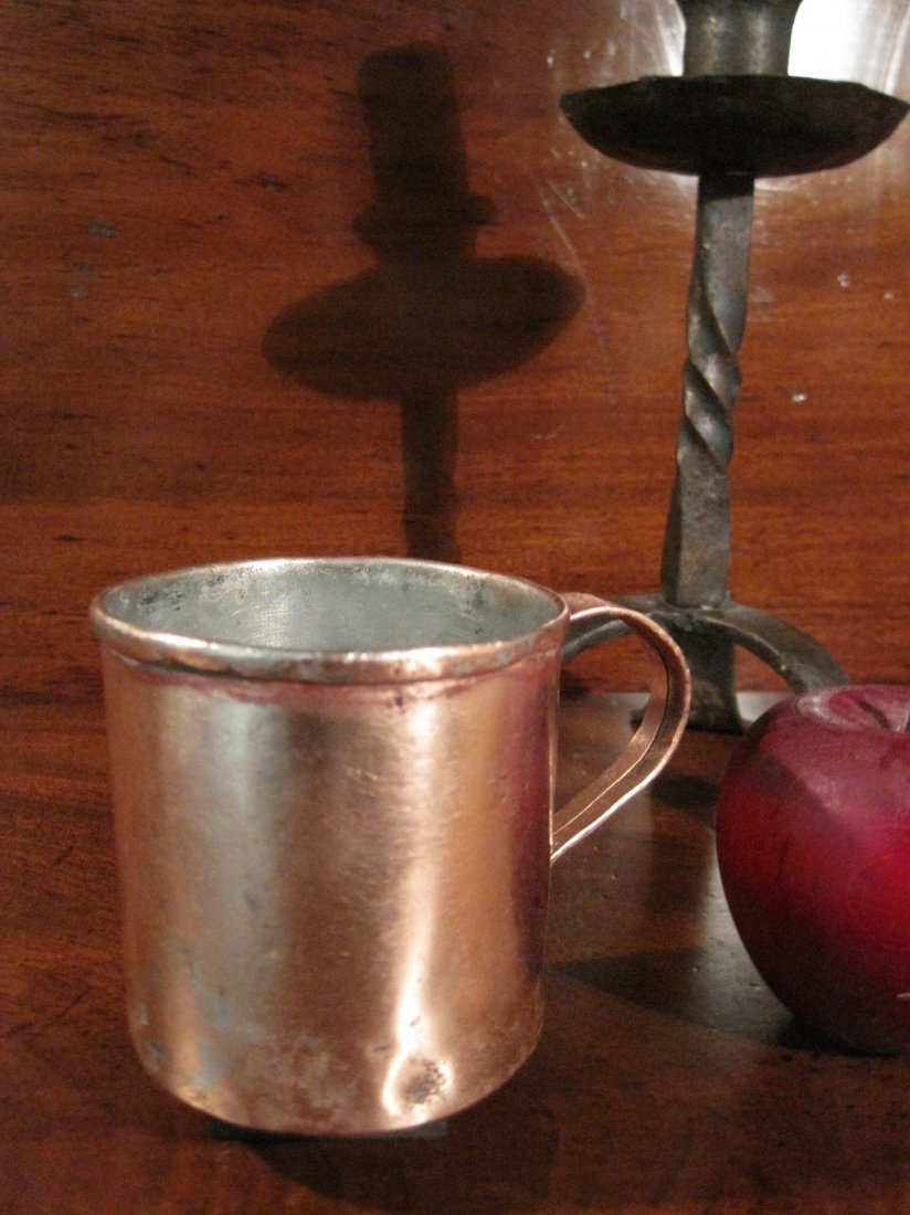 Colonial Copper Pint Tavern Tankard Mug Cup 1700s - 2
