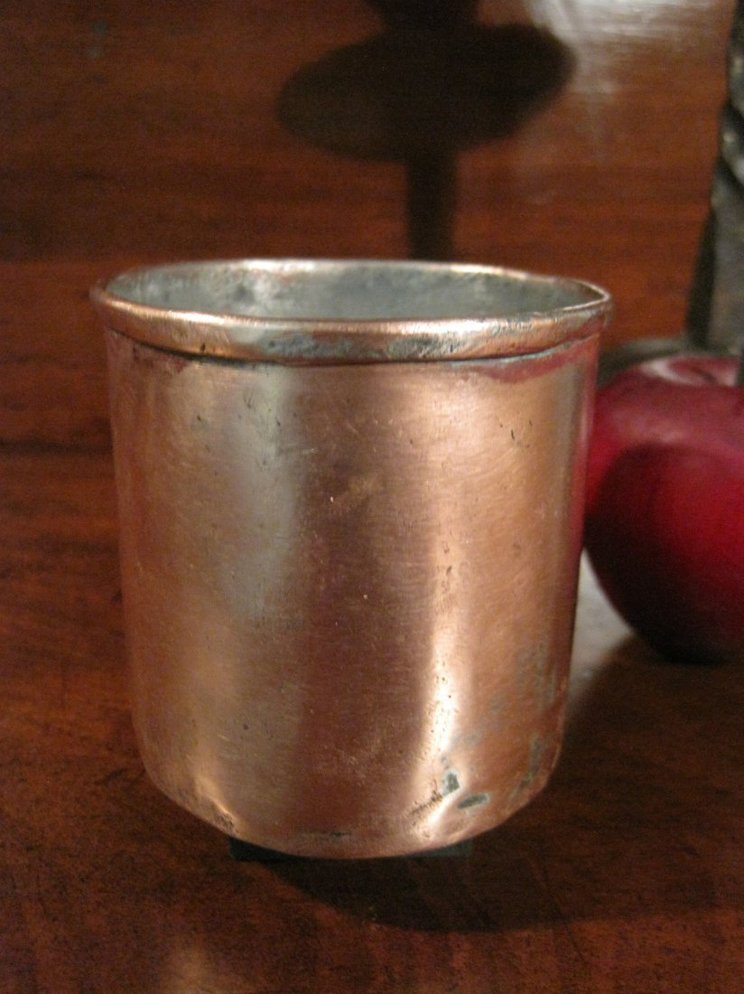 Colonial Copper Pint Tavern Tankard Mug Cup 1700s - 7