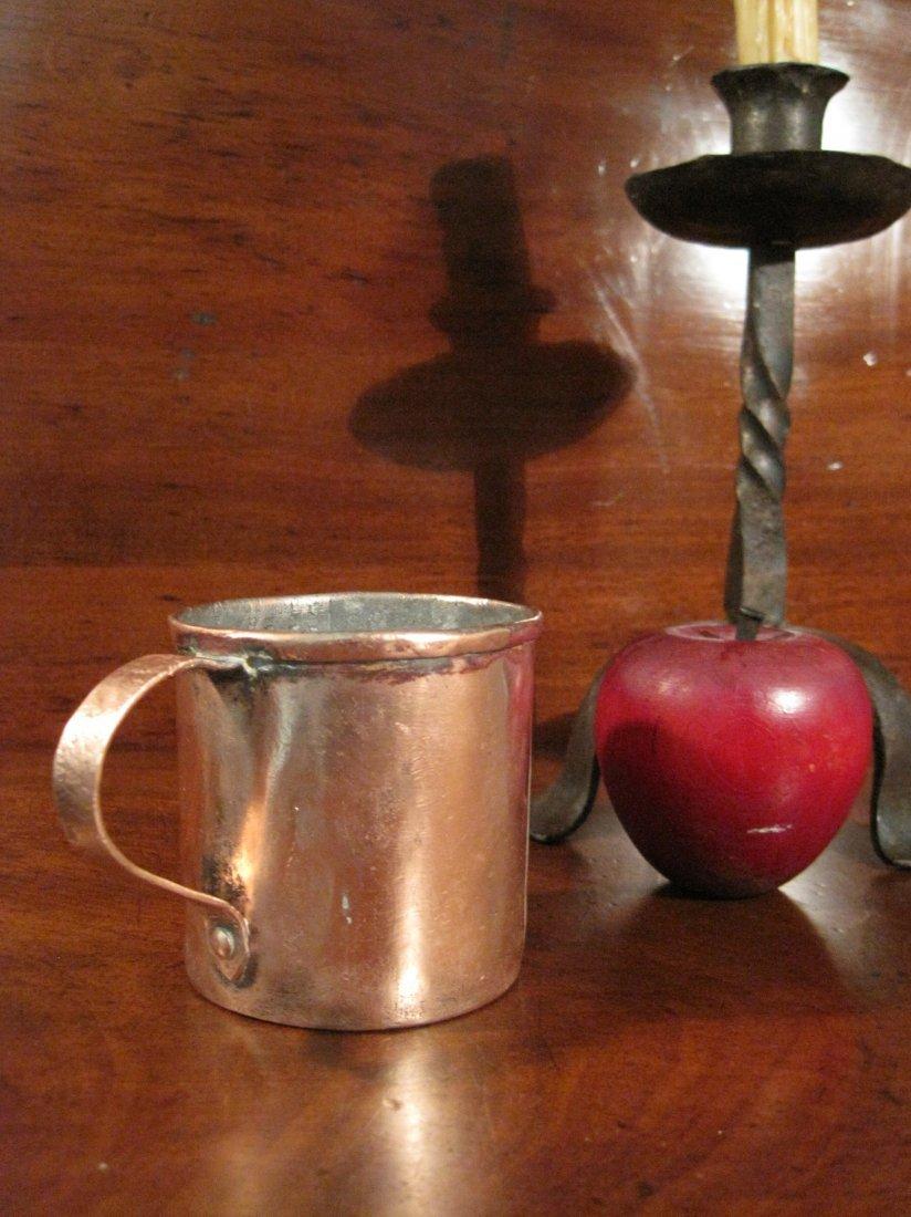 Colonial Copper Pint Tavern Tankard Mug Cup 1700s - 9