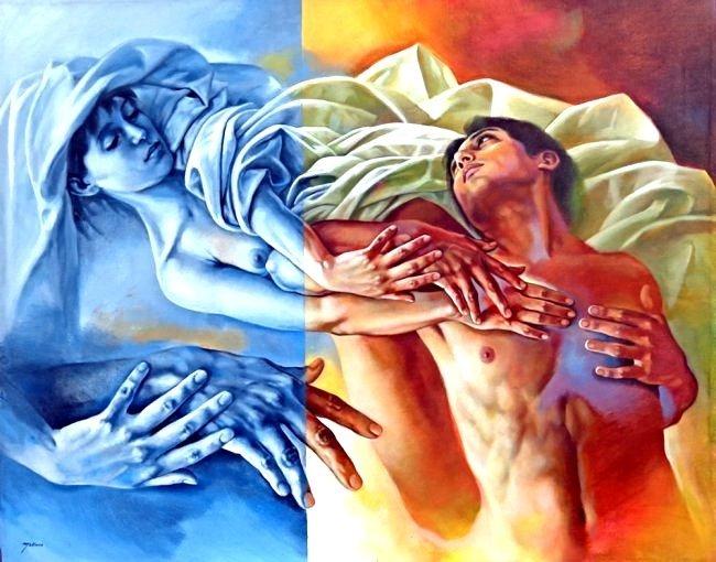 "Seductive Charms-Appox. 39"" x 31"" by Rafael Merinoo"