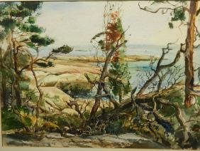 Morton R. Schwartz: Horse Island, Long Island Sound