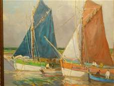 Tuna Boats, Concarneau, France oil painting