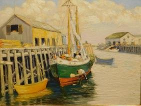 Nyland: Boats,  Fishing Boat, Provincetown oil