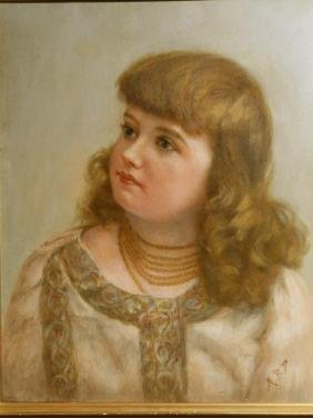 Portrait of Victorian Girl With Jewelry
