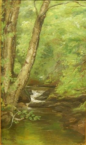 Thomas Harris Robinson: Forest Stream, c.1880 Oil on