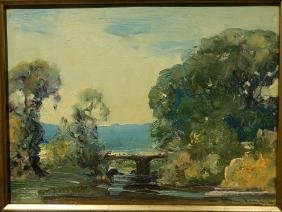 Frederick Mortimer Lamb:  Plein Air Landscape Oil