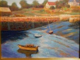 Bruce Wood:Lanesville Gloucester Oil Painting