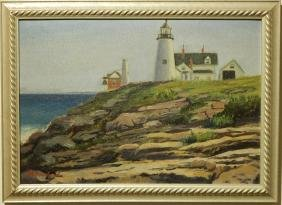B. Howland: Light House, Oil Painting c.1030