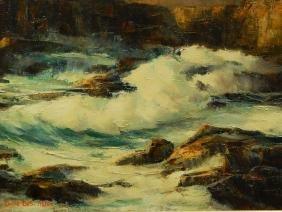 Emilie Des-Atlee: Seascape Oil Painting