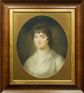 Pastel Portrait of Mrs. Jordan, c.1830