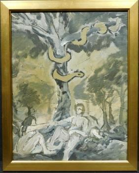 Charlotte E. Murphy: Adam & Eve, Acrylic Painting