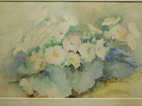 Alfred G Kellogg: Floral Still Life, watercolor