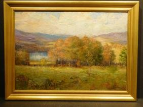 Alexander R. James:  Autumn Landscape oil painting