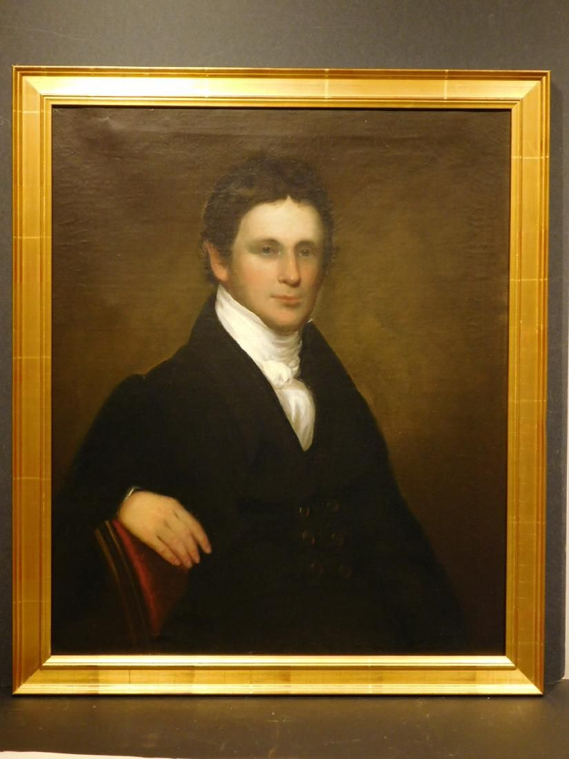 Oil Portrait of a Handsome Young Man, c.1820