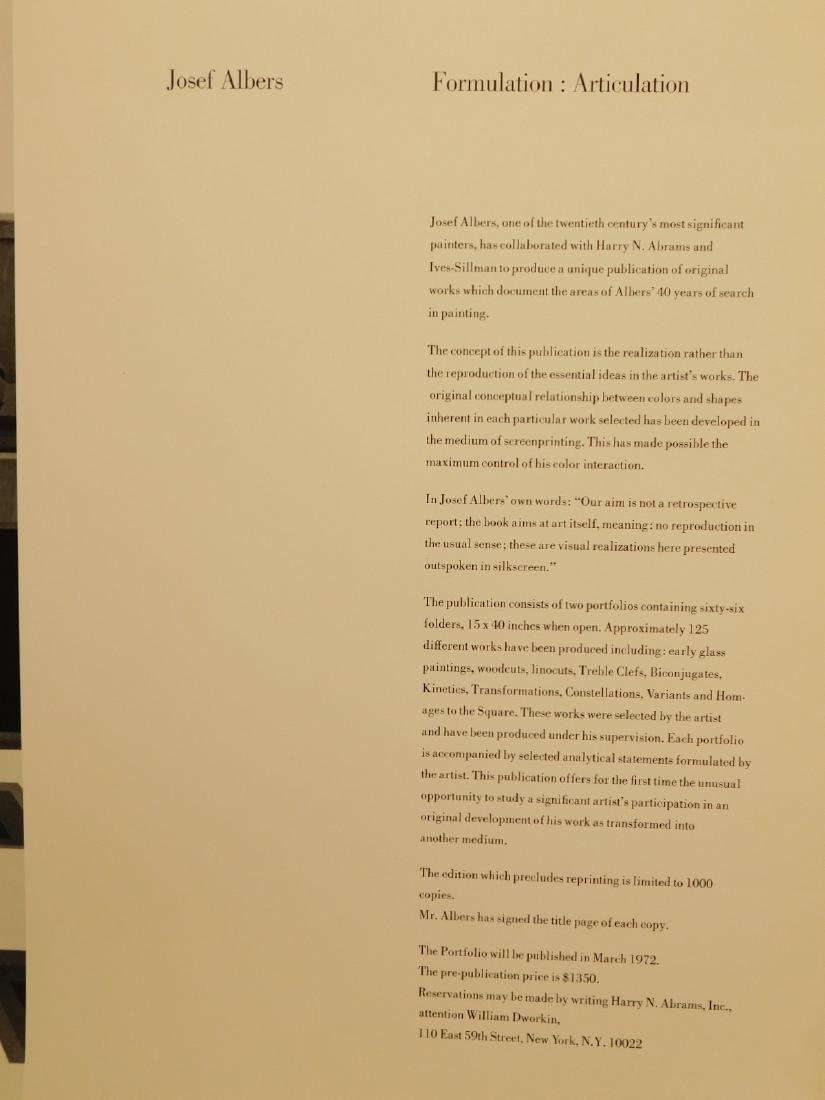 Josef Albers: Formulation: Articulation prospectus - 7