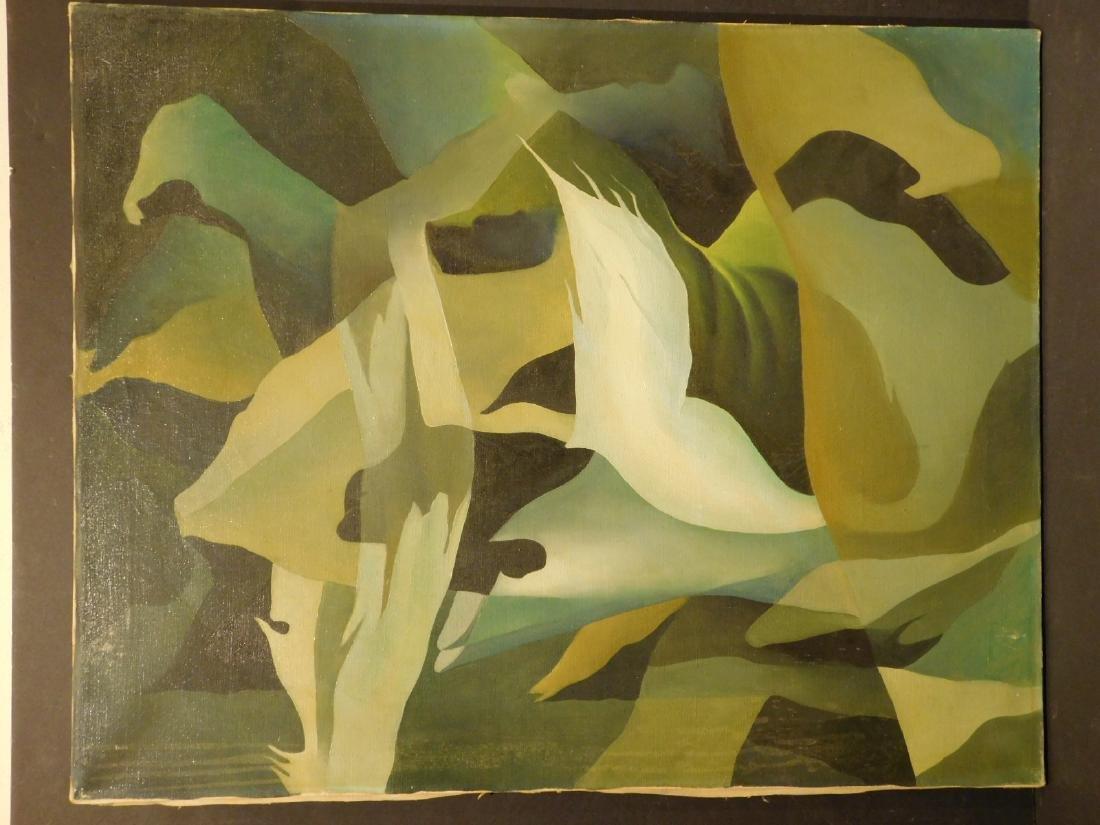 Howard John Besnia: Abstract Oil Painting c. 1950