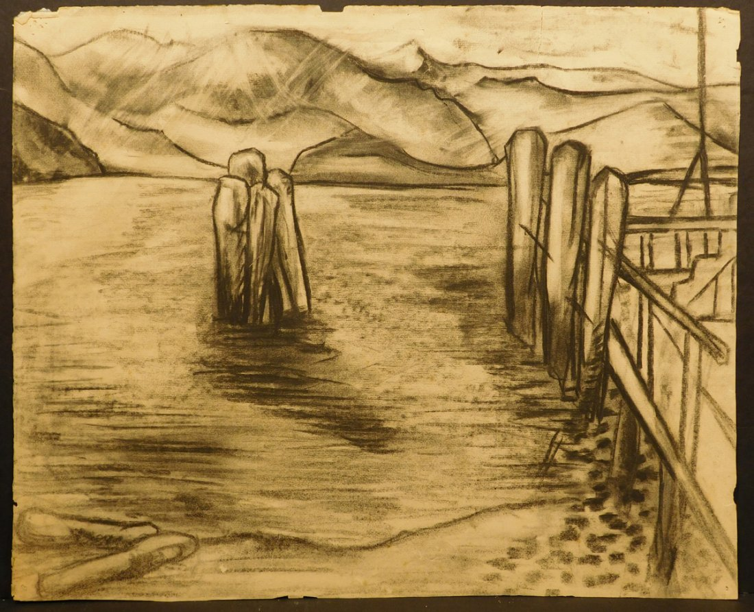 Hans Hofmann: Provincetown charcoal drawing