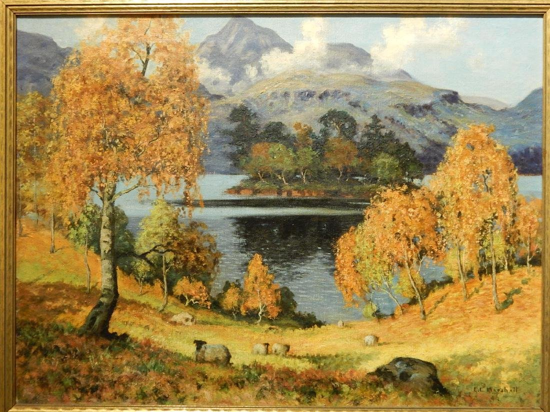 Edwin L Marshall:  Grand Lake, Colorado c.1940 oil