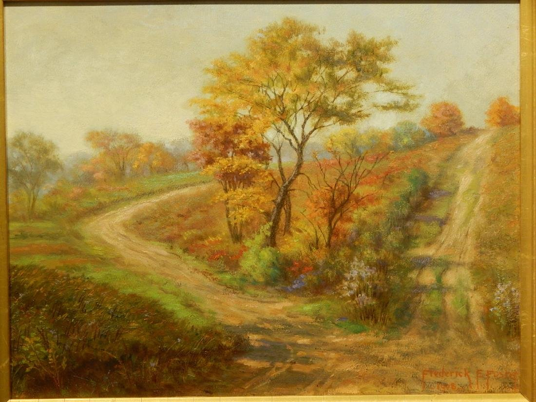 Frederick E. Foster: Autumn Landscape With Two Roads ,