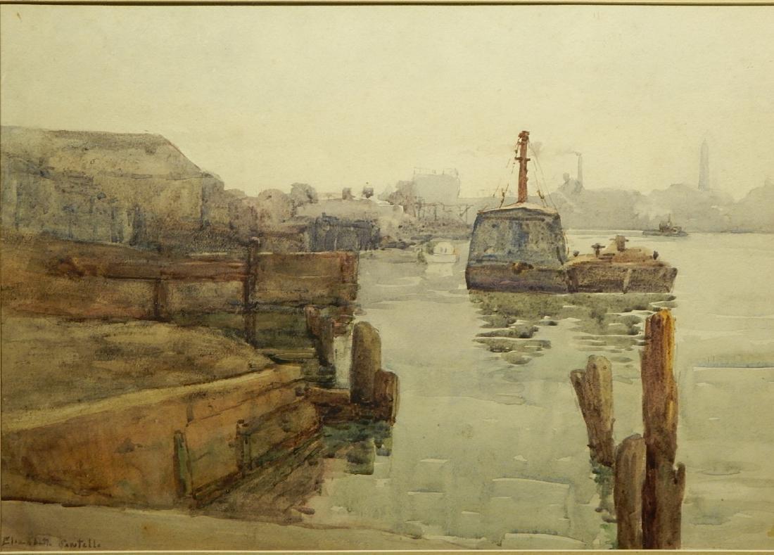 Elizabeth Sawtelle: Potomic River c.1935 Watercolor