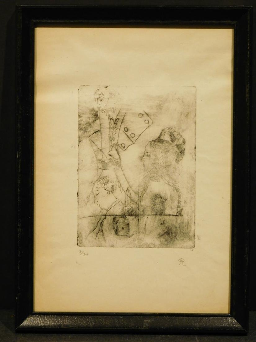 After Odilon Redon: Faces, signed lithograph - 2