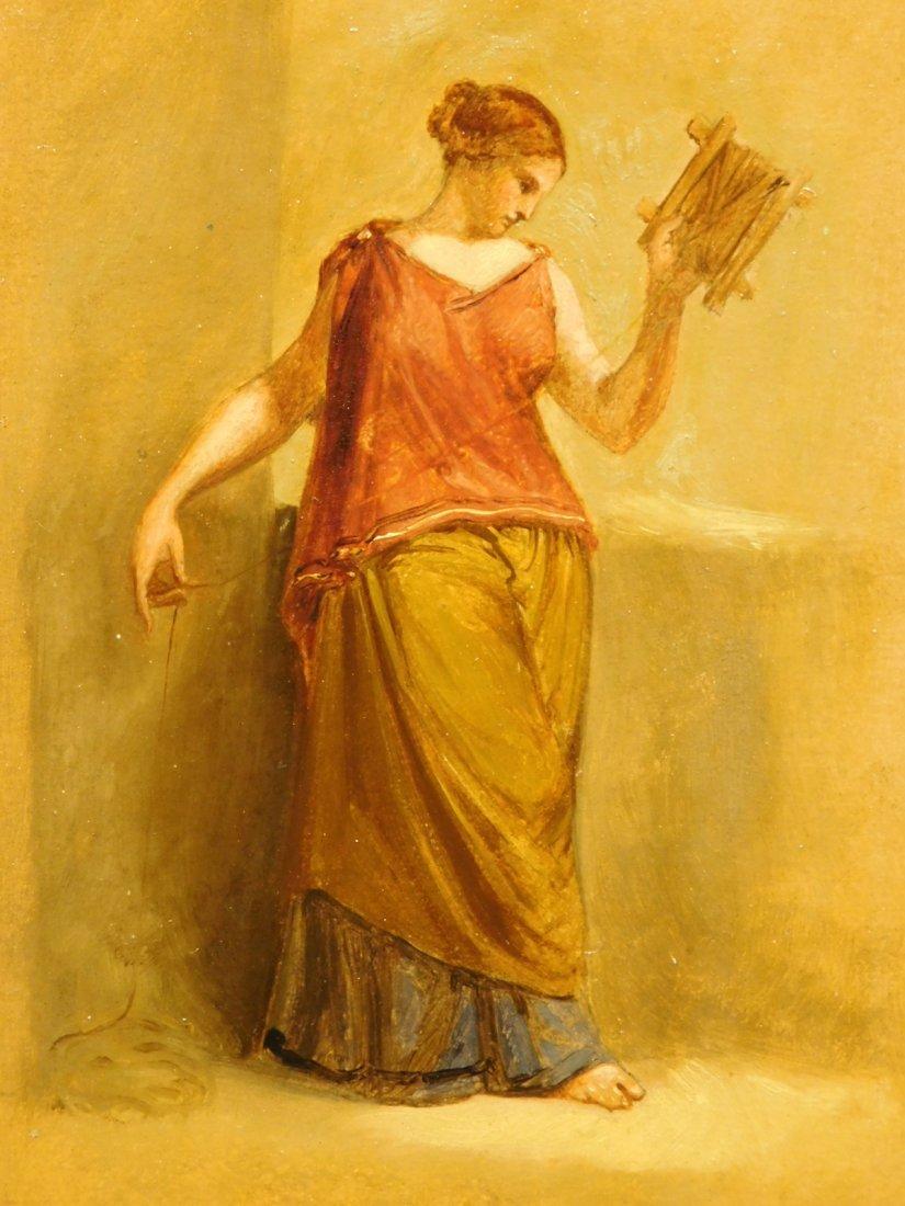 Henry Kirke Brown: Classical Figure Study, 1885 oil