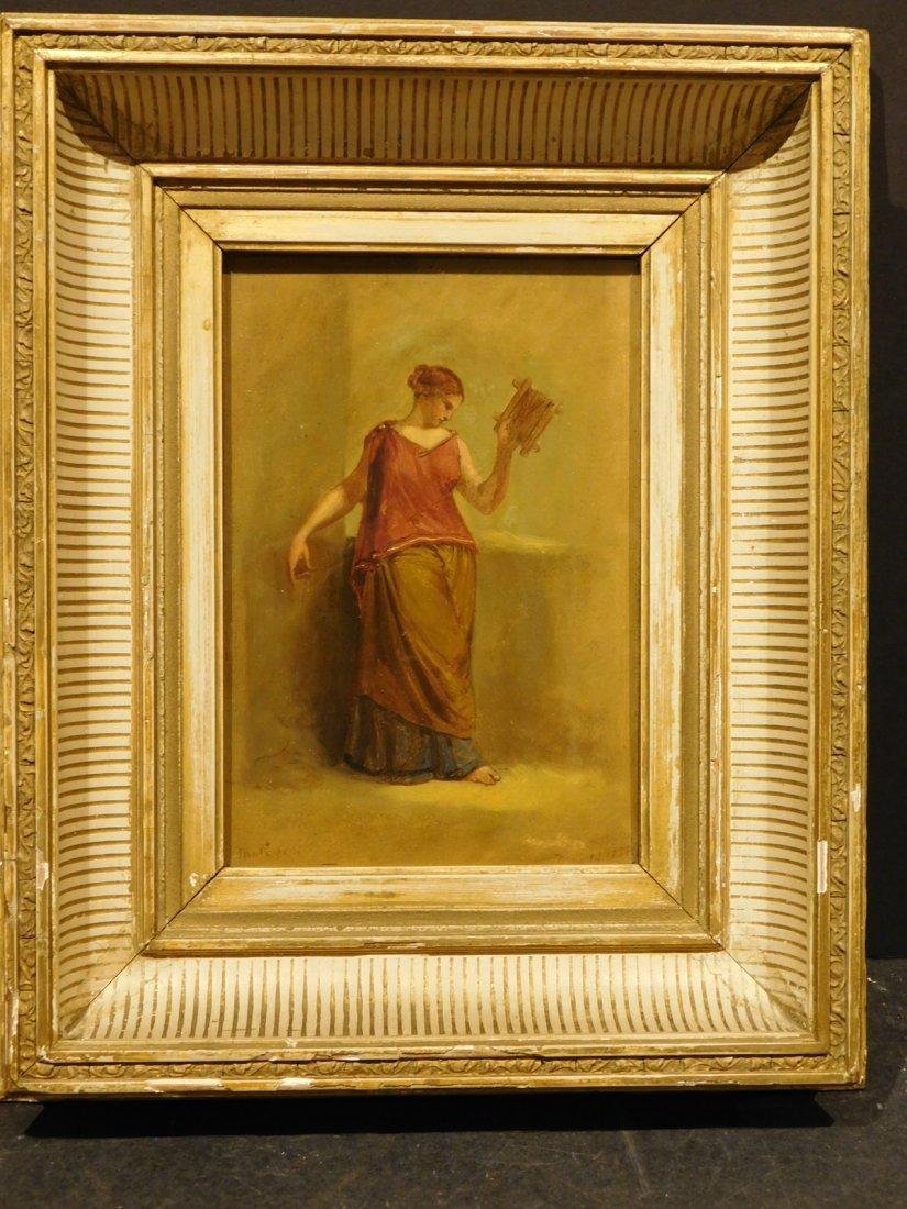 Henry Kirke Brown: Classical Figure Study, 1885 oil - 2