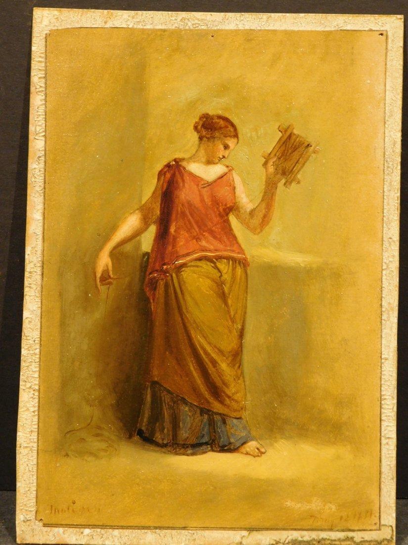 Henry Kirke Brown: Classical Figure Study, 1885 oil - 4