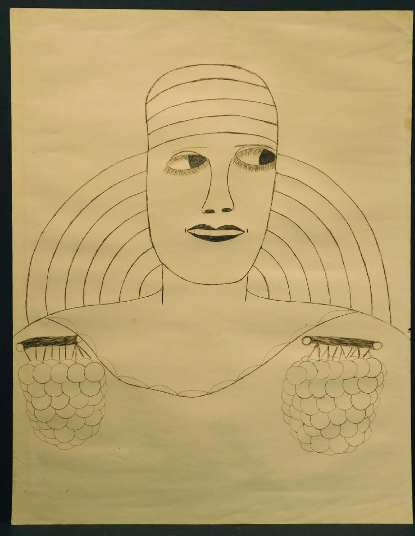 Lee Godie: Portrait drawing