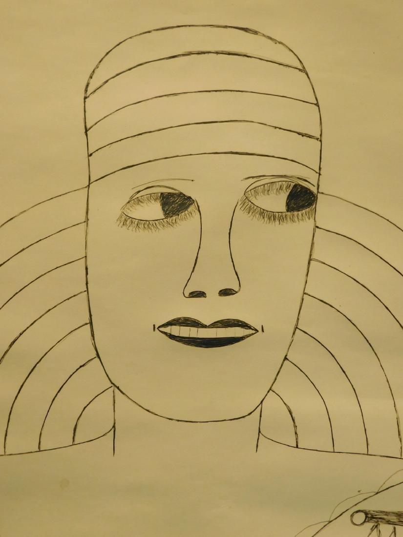 Lee Godie: Portrait drawing - 2