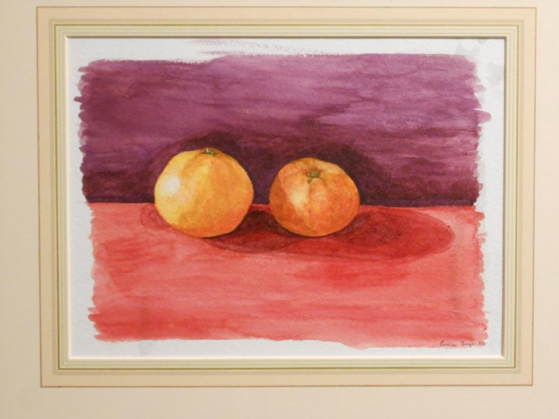 Caroline Braga: Tangerines, Still Life Watercolor