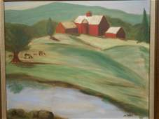 Jim Frank Landscape With Farm oil painting