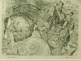 Robert S. Neuman: Ship To Paradise, 1979 Etching