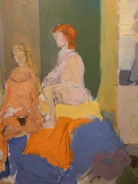 Oil/Acrylic Abstract Figure Study c.1980