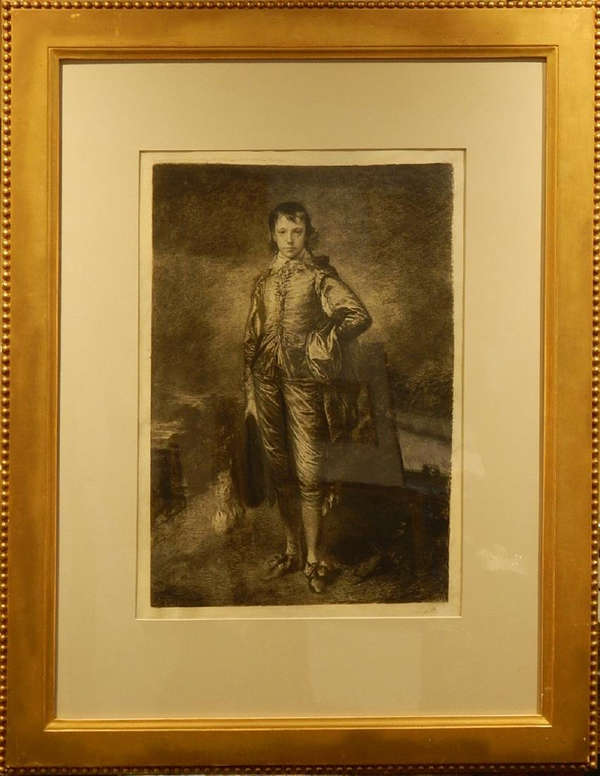 After Gainsborough: Engraving by Charles Albert Waltner