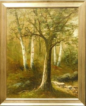 Woodland Landscape, c.1900 oil painting