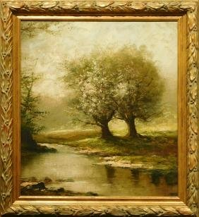 Landscape With a Stream, c.1900 oil painting