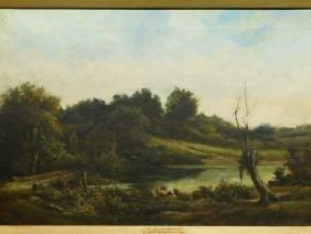 G. Stevenson: A Shaded Stream, 1889