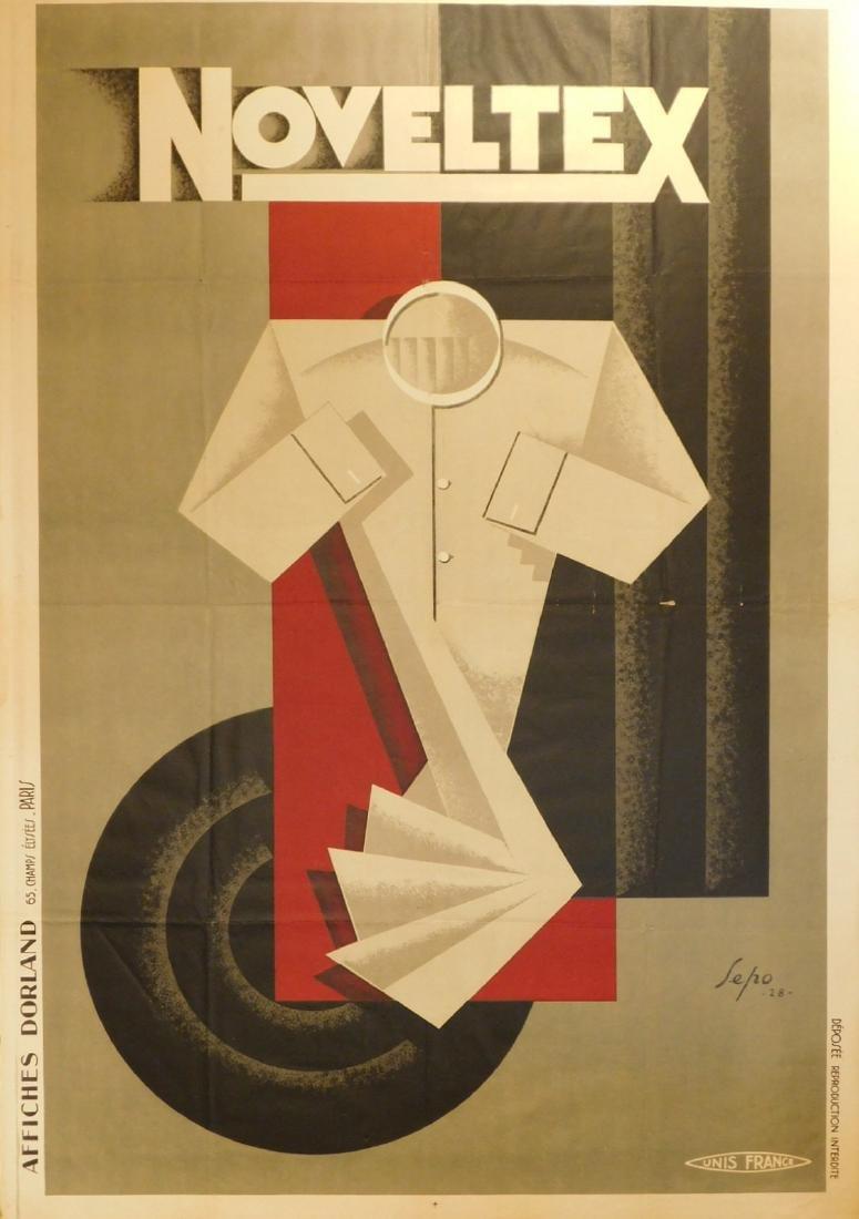 Severo Pozzati (Sepo): Noveltex (shirt) 1928 Poster