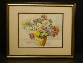 Kate Forbes: Floral Still Life watercolor