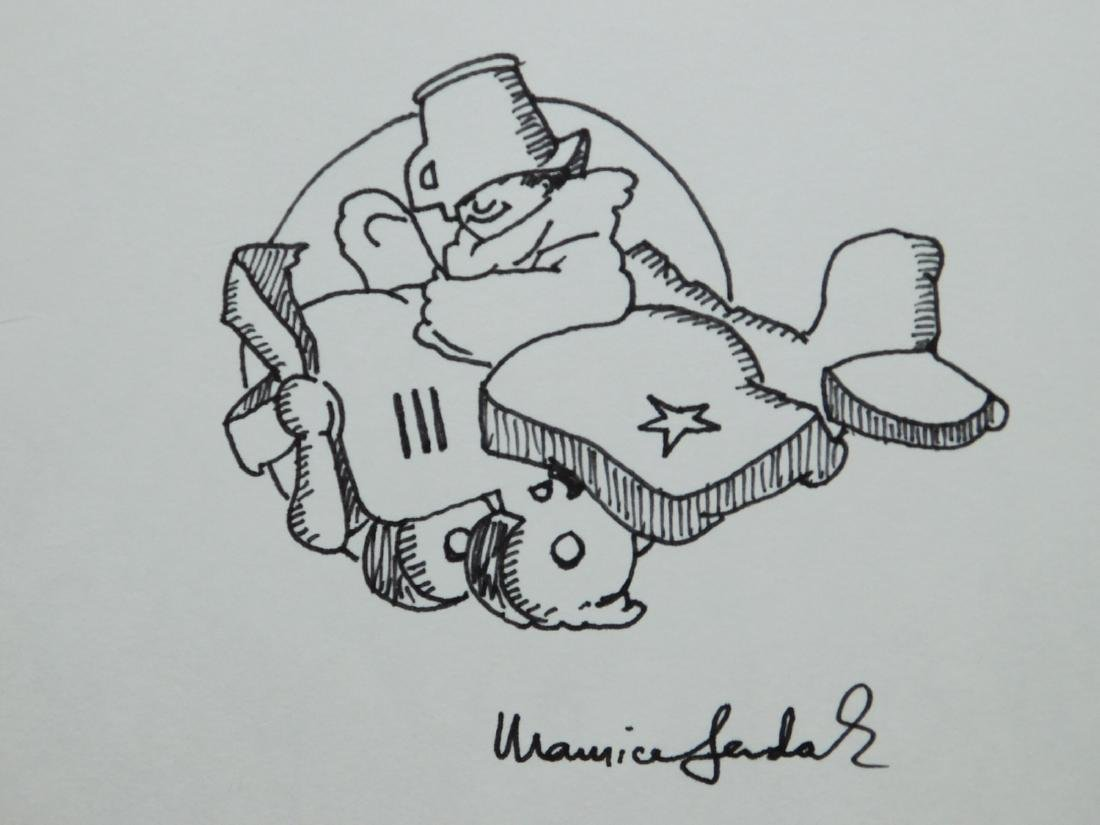 Maurice Sendak: Max in an Airplane, Signed Drawing